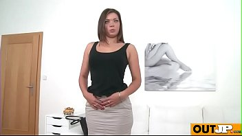 room casting back couch Teacher suck her student nipple