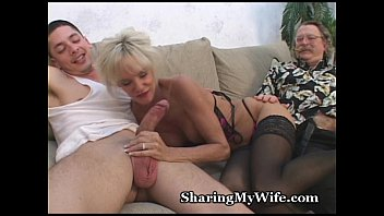 out mature pussy worn Husband having a gay thresone wife watch