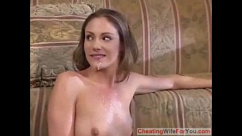 front woman in of raped husband Fuck him then eat his cum