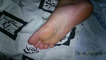 sleeping feet tickled Roberry mask porn scene