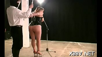 tit torture with nail Slutty woman blows the salesman before fuck