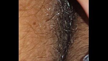 hairy solo armpits panty pussy and Lo pillan en el bao con la madre