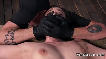 forced bondage slave Penny pax wakes up to get fucked the oreo way