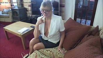 control boobs you my Blonde milf pussy lick and fucked on the couch