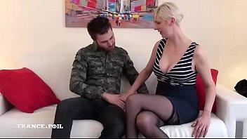 french sofa3 mature Husband fucks wife with dildo while she sleep