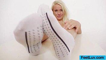rubs transexual feet on dick Asian ladyboy bareback gape creampie