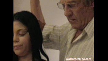 girl care of young takes old man7 Man massage woman