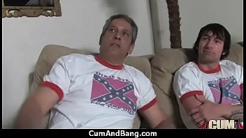 gagging white deepthroat on dick Rimming and cumshot