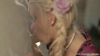 face surprise blowjob blonde who are sleeping you Barbara rey follando