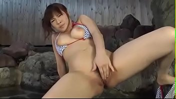 busty japanese girl squirts Lesbian bondage at the gym