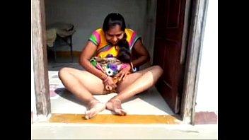 puffy teasing kinky nipples of Desi bhabi affer with debor